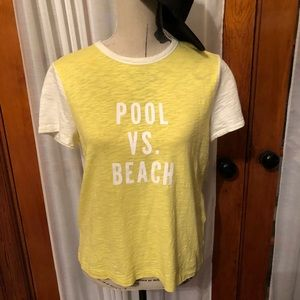 Madewell Yellow Cotton T Shirt POOL VS BEACH